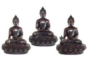 Statue Set of Shakyamuni Buddha Amitabha Buddha and Medicine Buddha In finishing
