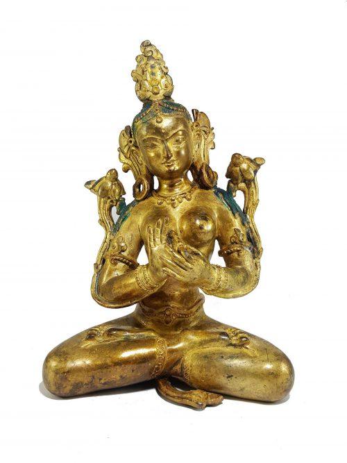 Statue of Green Tara Newari Style