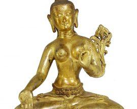 Statue of White Ara Newari Style