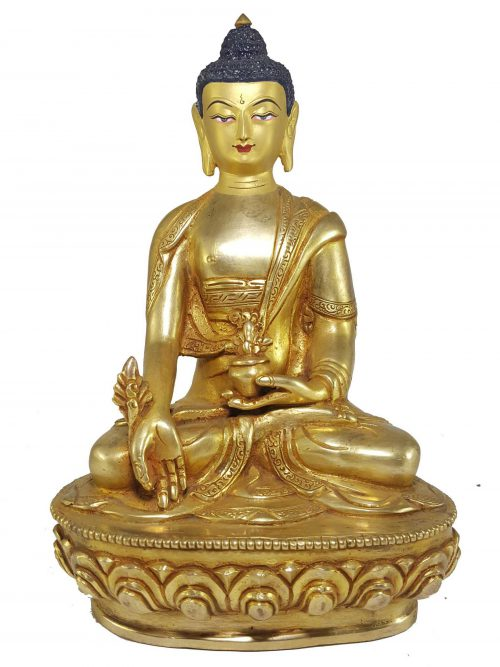 Statue of Medicine Buddha with Painted Face