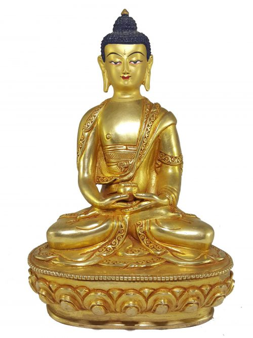 Statue of Amitabha Buddha with Painted Face