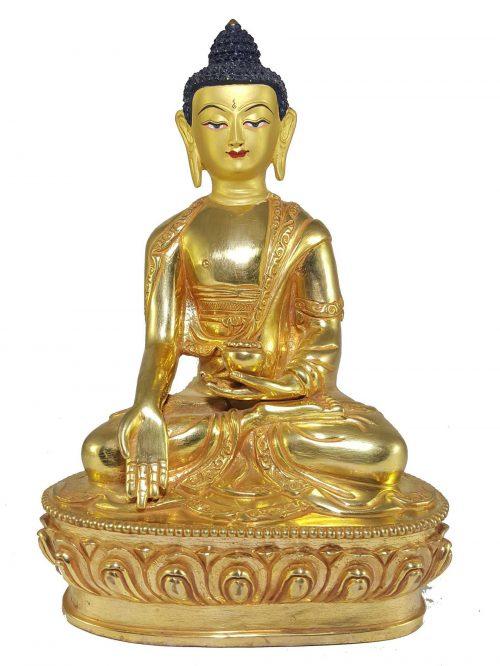 Statue of Ratnasambhava Buddha with Painted Face