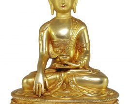 Statue of Shakyamuni Buddha with Painted Face