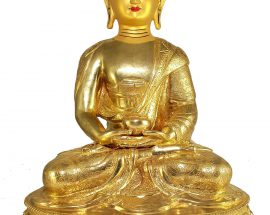 Statue of Amitabha Buddha and Painted Face