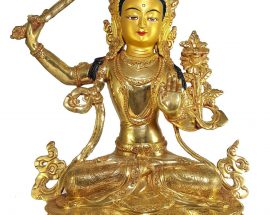 Statue of Manjushri and Painted Face
