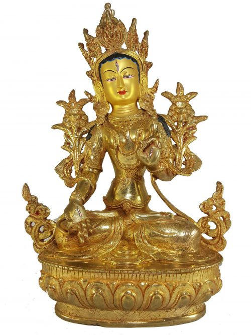 Statue of White Tara and Painted Face