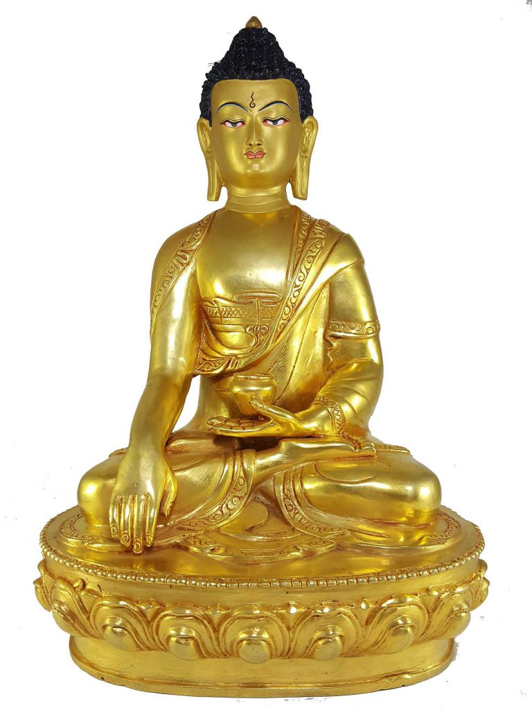 Statue of Shakyamuni Buddha and Painted Face