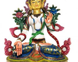 Statue of White Tara Thangka Color finishing