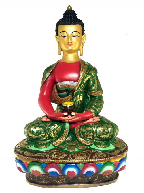 Statue of Amitabha Buddha Thangka Color finishing