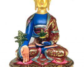 Statue of Medicine Buddha Thangka Color finishing