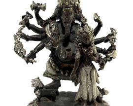 Statue of Ganesh and Its Consort Riddhi