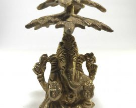 Statue of Ganesh On Tree