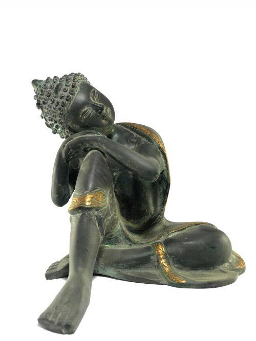 Statue of Resting Buddha Black finishing