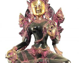 Statue of Green Tara Double Color finishing