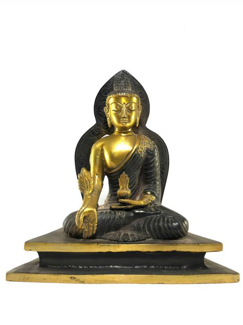 Statue of Medicine Buddha Double Color finishing