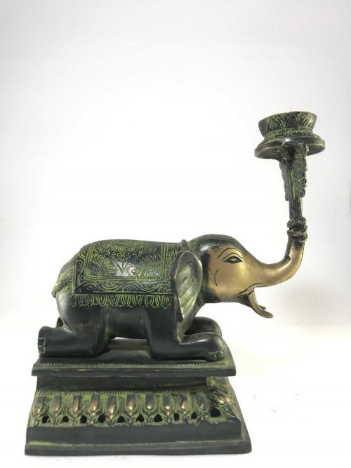 Statue of Elephant Candle Stand