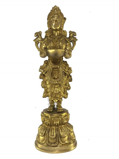 Statue of Gandharva Candle Stand