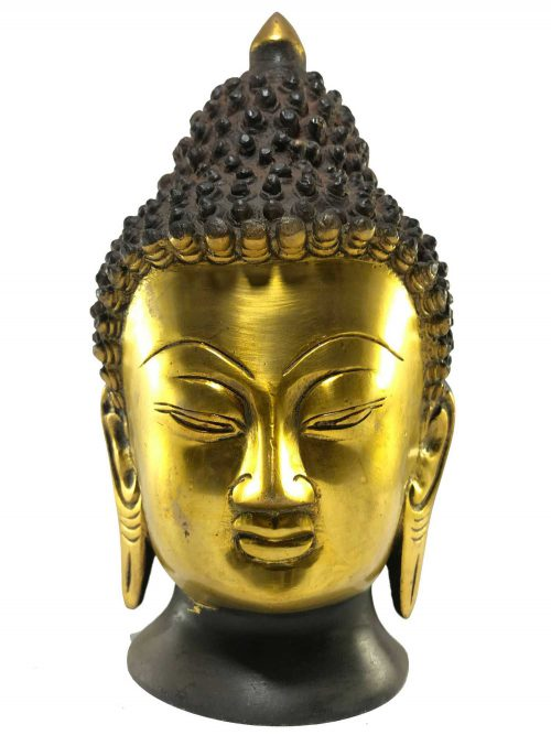 Statue of Buddha Head Double Color finishing