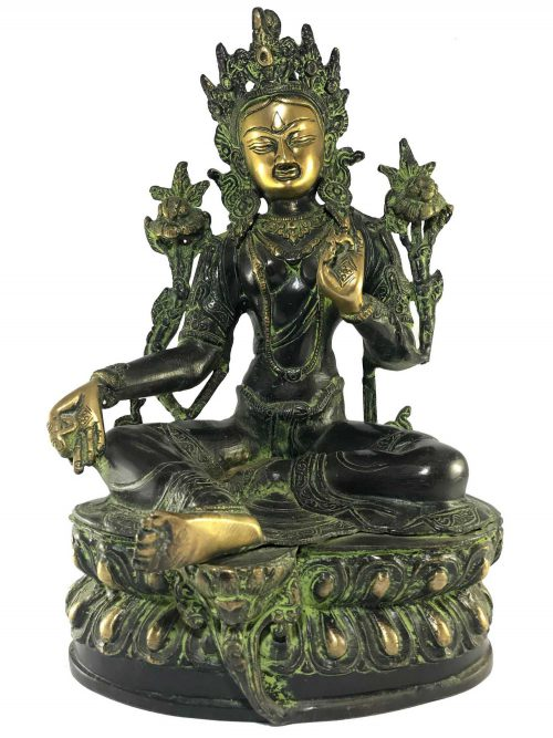 Statue of Green Tara Black