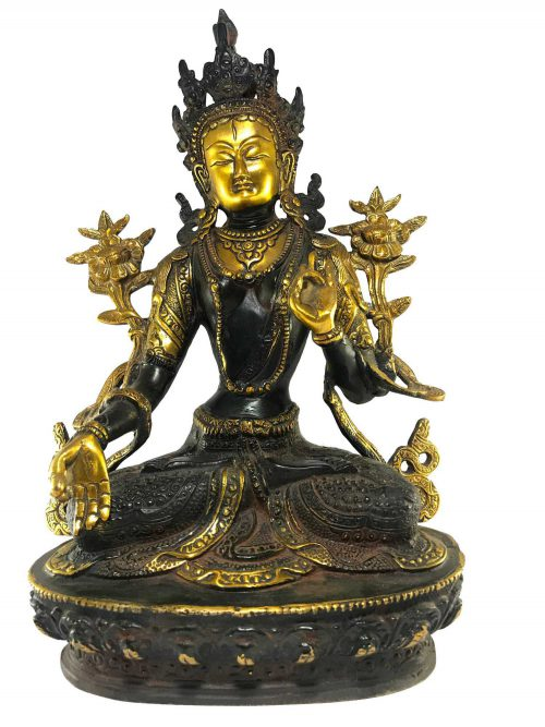Statue of White Tara Double Color finishing