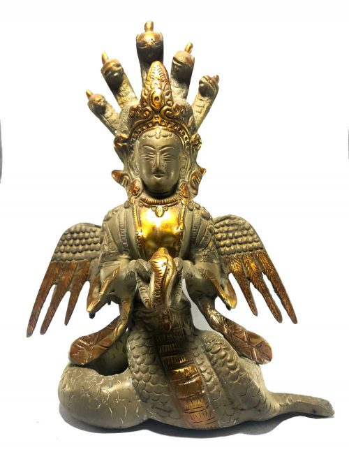 Statue of Naga Kanya with Stone Color finishing