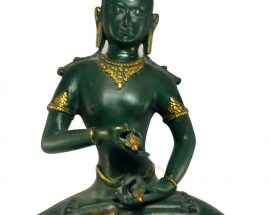 Statue of Vajrasattva with Green Color finishing