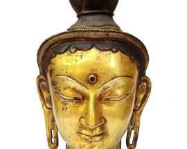 Tibetan Statue of Green Tara Head