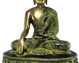 Statue of Shakyamuni Buddha In Green
