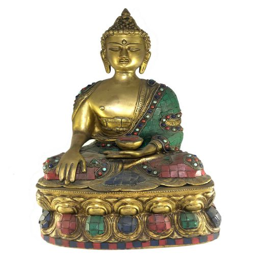 Statue of Shakyamuni Buddha with Stone Setting
