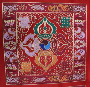 Silk Brodcade with Double Dorje Design