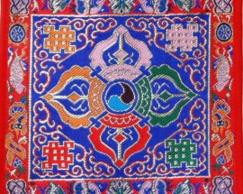 Blue Silk Double Dorje Tilden Cloth