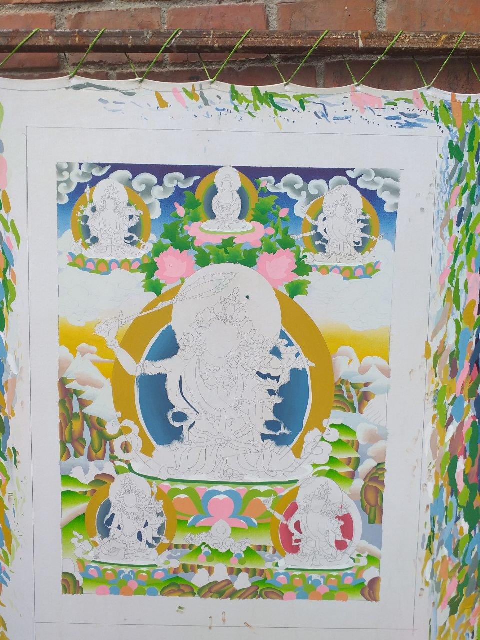Colouring of Manjushree Thangka