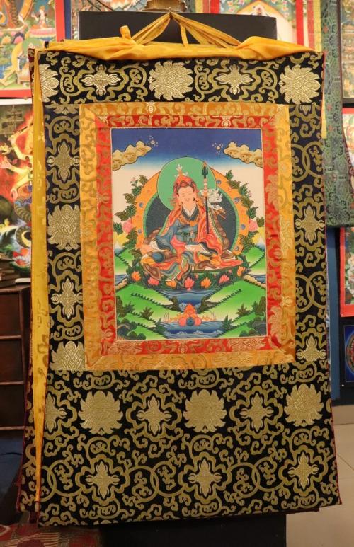 Guru Padmasambava with silk frame