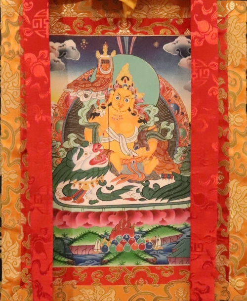 Silked Framed Jambhala Thangka