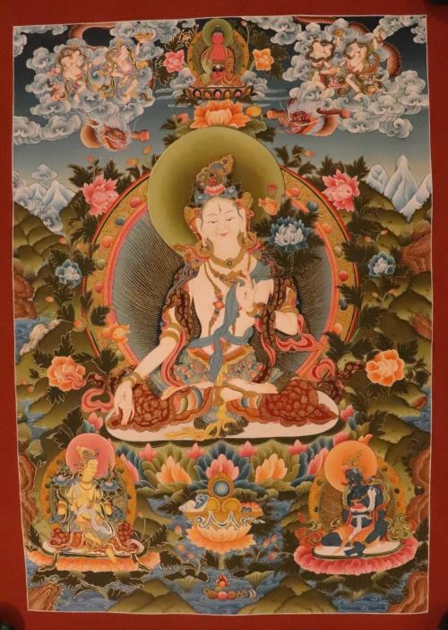 White Tara Scroll Painting