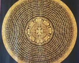 mantra mandala with double vajra