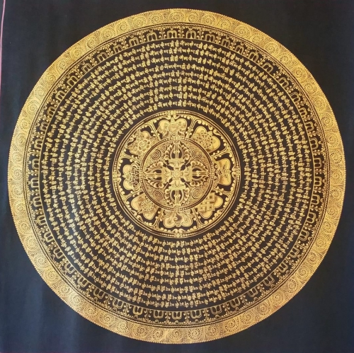 mantra mandala with double vajra