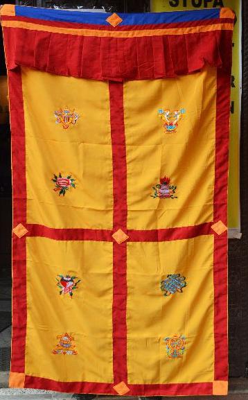Tibetan 8 auspicious symbols curtain