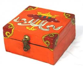 Tibetan Treasure box with Parasol Design
