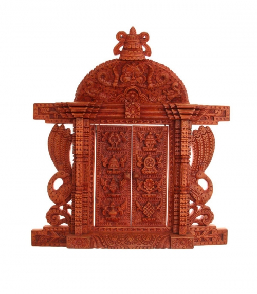 Hand Carved Window with 8 Auspicious Symbol Design