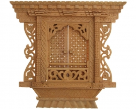 Hand Carved Sliding Door with Floral Design