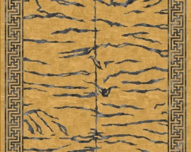 Tibetan Carpet with Tiger stripe Design