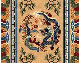 Tibetan Carpet with Dragon Design