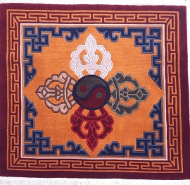 Tibetan Carpet with Dorje Design