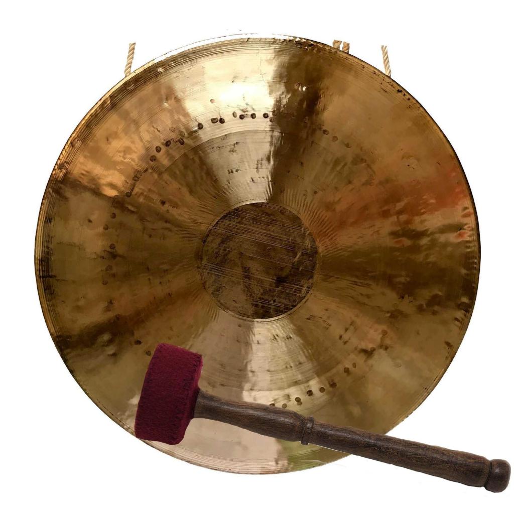 Hand Beaten Brass Gong