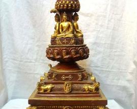 Copper Stupa from Nepal