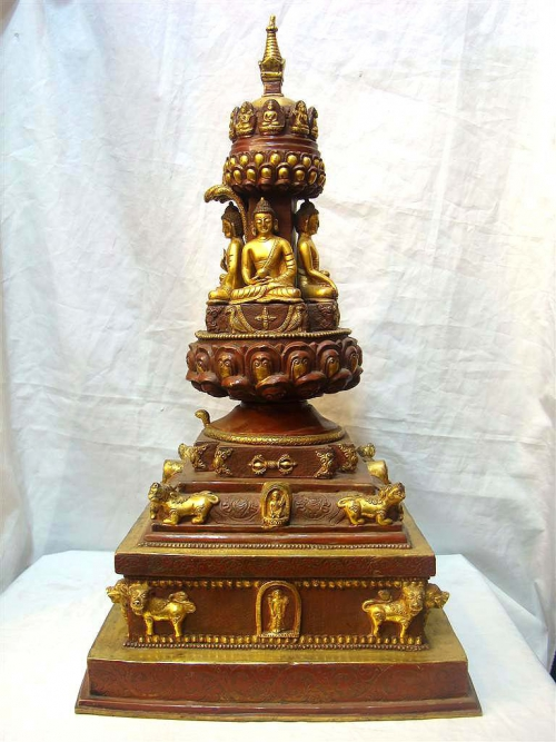 Copper Stupa from Nepal