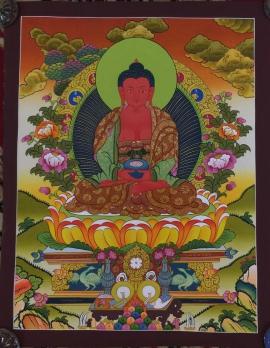Amitabha Buddha Thangka Painting