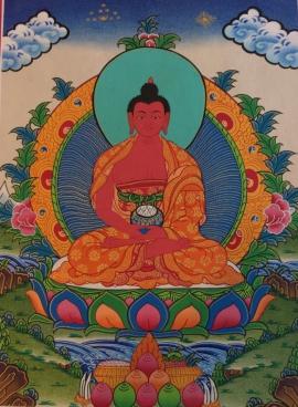 Bodhisattva Amitabha Buddha Thangka