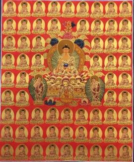 Thangka of 35 Buddhas
